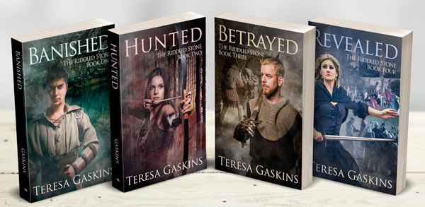 The Riddled Stone novels by Teresa Gaskins